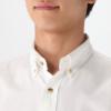 MUJI 无印良品 M8AC526 男士棉法兰绒人字纹纽扣领衬衫 99元