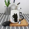 雪天使 情侣陶瓷杯 带勺+盖  单只 19.9元 包邮(需用券)