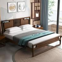 DHP 爱屋极物  blmu003 新中式白蜡木床