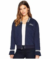 Juicy Couture Quilted Terry Bomber Jacket女士夹克