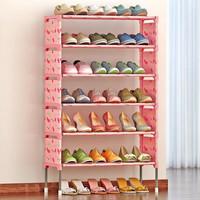 索尔诺简易多层鞋架 组装防尘鞋柜简约现代铁艺收纳架