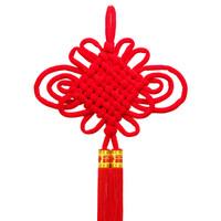 伟龙 8盘中国结 元旦春节喜庆装饰 年货 绒布中国结 *10件