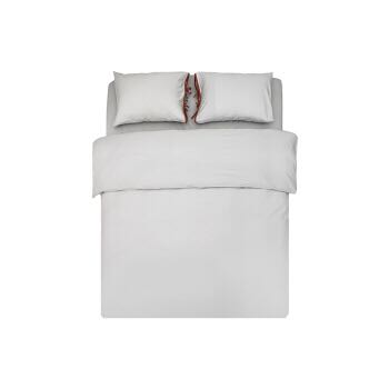 网易严选 竹语初棉撞色四件套 莫代尔棉时尚床上用品被套床单枕套床品套件 青丝灰 1.8m