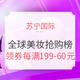 苏宁国际 全球美妆抢购榜