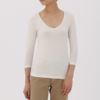 MUJI 无印良品 H7AD240 女式棉混保暖V领八分袖衫 35元