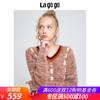 Lagogo/拉谷谷2018冬季新款简约淑女通勤针织衫女HCMM46YM21 279元
