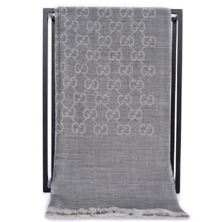 GUCCI 古驰 16590 中性款羊毛混纺围巾