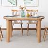 维莎 实木圆形折叠餐桌椅组合 一桌四椅 2560元(前100名,需用券)