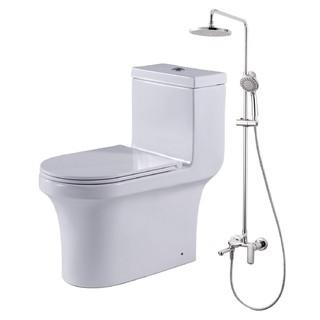 ENZO RODI 贝朗安住 C21174XUW-3+F6125183CP-A3 静音节水连体马桶+欧帕高端挂墙式三出水淋浴柱套餐