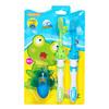 青蛙套装系列儿童软毛护龈牙刷×2 119B(颜色 赠品随机 3岁以上适用) *5件 25元(合5元/件)