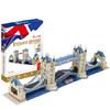 乐立方立体拼图 3D拼图 儿童创意立体拼插模型 早教手工玩具 英国伦敦双子桥 MC066h 53.86元