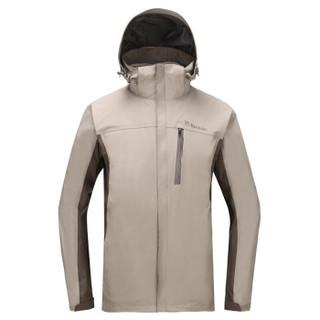 TOREAD 探路者 TAWF91701 男/女款冲锋衣 (2XL、伽罗灰/栗棕)