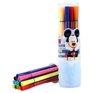 移动专享 : Disney 迪士尼 儿童可水洗水彩笔套装 12色 2罐装 *2件