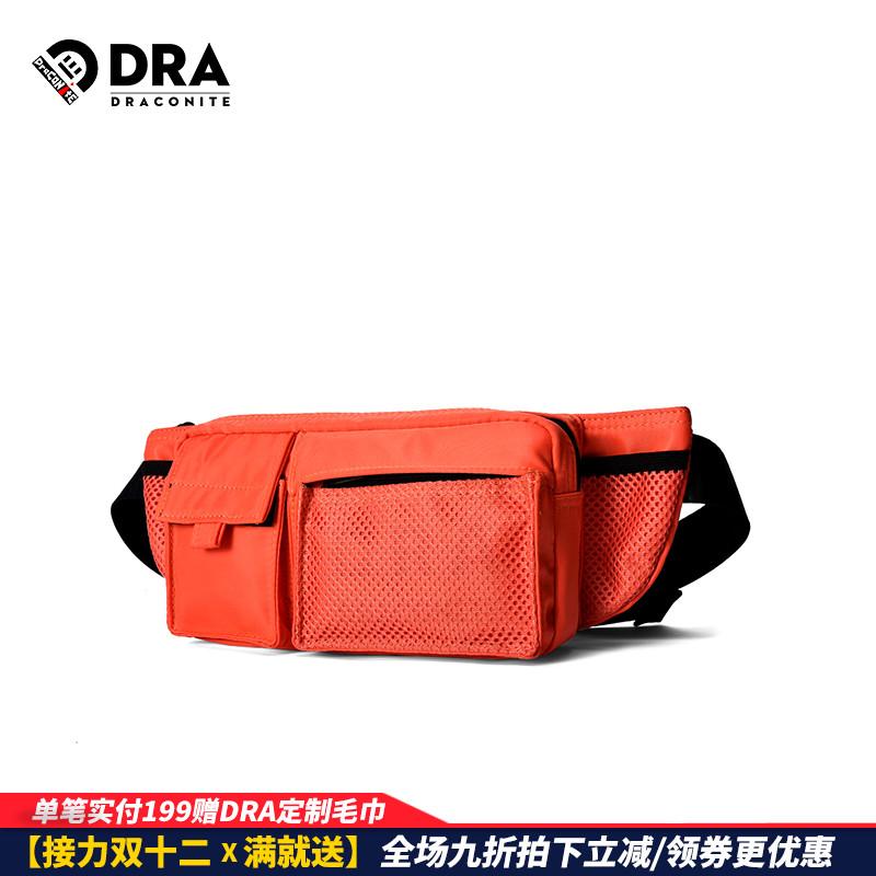 DRACONITE 13399 腰包男潮牌多功能便携实用包耐磨纯色防水反光胸包