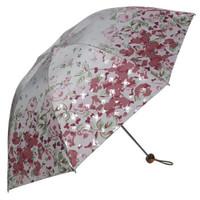 天堂伞 三折银胶晴雨伞