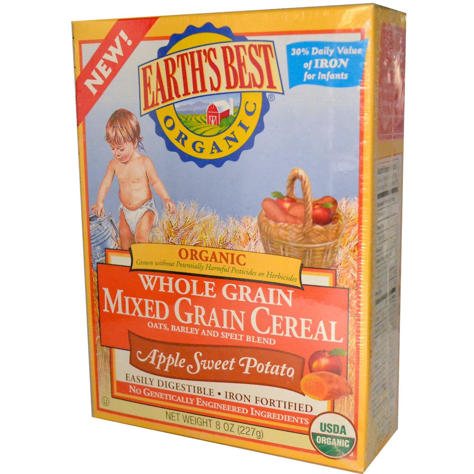 EARTH'S BEST 爱思贝 有机全麦混合米粉 苹果红薯味 227g