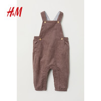 H&M童装婴幼童婴儿限量系列2018秋季新款灯芯绒背带裤HM0645371