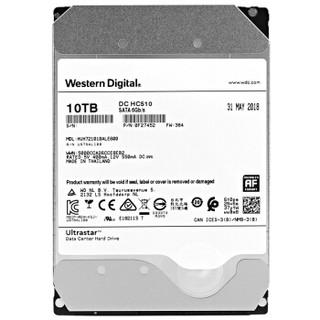 Western Digital 西部数据 Ultrastar DC HC510 数据中心 台式机硬盘 10TB 256MB 7200rpm HUH721008ALE600