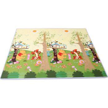 迪士尼Disney 维尼身高尺+米奇字母 EPE安全环保儿童爬行垫卡通防潮防滑游戏垫 200*180*0.5cm(单片装)