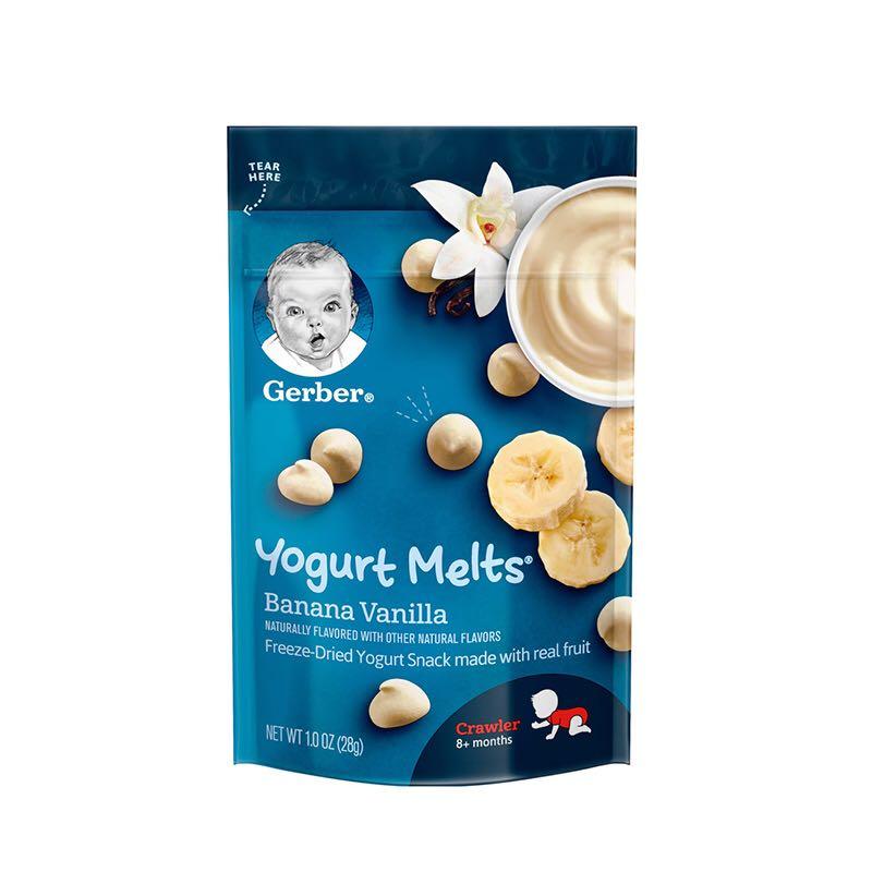 Gerber 嘉宝 婴幼儿香蕉香草酸奶溶豆 3段  28g *7件