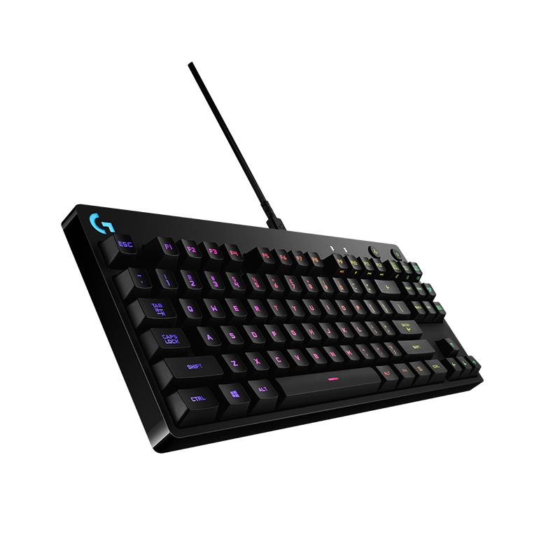 送礼顺丰 罗技G Pro 有线RGB炫彩背光87键专业电竞游戏机械键盘