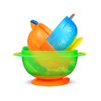 Munchkin满趣健/麦肯齐 婴幼儿宝宝独立学食碗/吸盘碗 3个装  健康材质  防止打翻