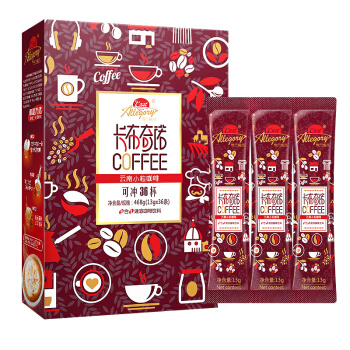 东方寓言 自营咖啡 卡布奇诺速溶咖啡 条装咖啡粉 36条 468g *5件
