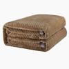 OBXO 源生活 珊瑚绒加厚毛毯 咖啡色 150*200cm 79元包邮