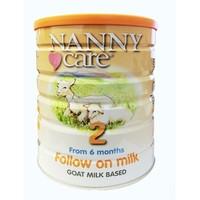 NANNY care 婴幼儿配方羊奶粉 2段 900g 6罐装