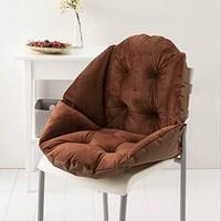 ADDOIL 超柔短毛绒贝壳椅垫(咖啡色)