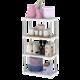 厨房置物架落地式多层可选卫生间浴室收纳架货物整理架 4层白色