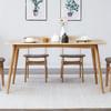维莎 w7010 白橡木餐桌椅组合 一桌四椅 1.2m 2730元(限前100名)