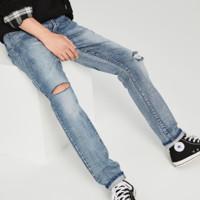 太平鸟 BWHA7214154 男士水洗修身直筒牛仔裤
