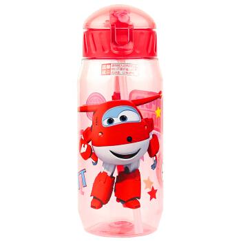 超级飞侠 儿童水杯吸管杯 450ML 红色 *16件