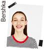 Bershka女士 2018夏装新款短袖 黑白条纹短款打底T恤02594443810 39元