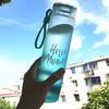 博力神 创意玻璃杯学生耐热渐变色杯子女士水杯随手杯抖音 韩国柠檬磨砂杯子水瓶 硕士杯蓝色480ML 20.93元