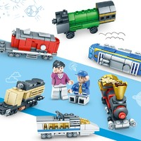 KAZI 开智 KY98222 创意小火车 积木玩具