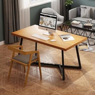 兆生 17010017 北欧实木书桌 电脑桌 120*60*75*5cm