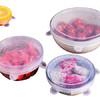 美之扣 6个装硅胶保鲜盖 万能碗盖 冰箱保鲜膜盘碟盖保鲜膜密封重复使用 透明 *3件 84元(合28元/件)