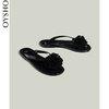 Oysho 黑色花朵装饰塑胶鞋底平底女士沙滩鞋人字拖 11179361040 99元