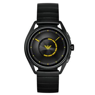 阿玛尼手表 时尚欧美智能触屏腕表钢带男 GPS定位心率监测 新款ART5007