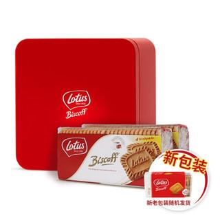 比利时进口 LOTUS 和情缤咖时焦糖饼干小红盒700g