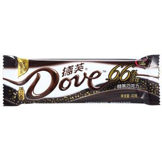 限地区 : Dove 德芙 66%醇黑巧克力 43g *15件