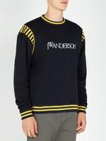 JWANDERSON LOGO VARSITY 男士学院风纯棉针织衫