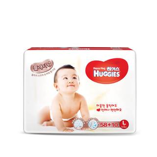 25号0点:HUGGIES 好奇 铂金装 干爽透气纸尿裤 L58+10片*4件