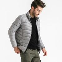 网易考拉全球工厂店 男式立领轻薄鹅绒服