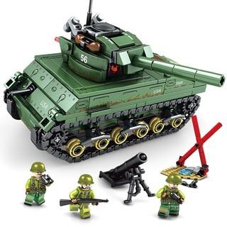 新森宝 小颗粒积木 钢铁帝国-谢尔曼 M4