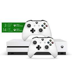 Microsoft 微软 Xbox One S 1TB 游戏机 双手柄套装