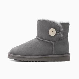 INTERIGHT 皮毛一体保暖雪地靴