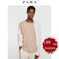 ZARA 04805303712 男士无扣式纹理针织外套 (L、本白)